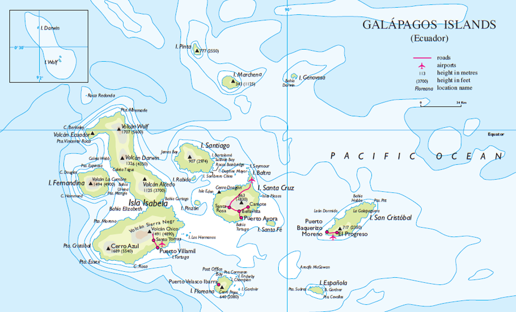 Galapagos Islands Region Map