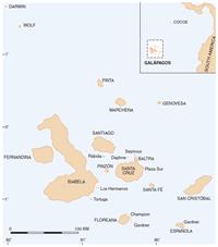Map of Galápagos