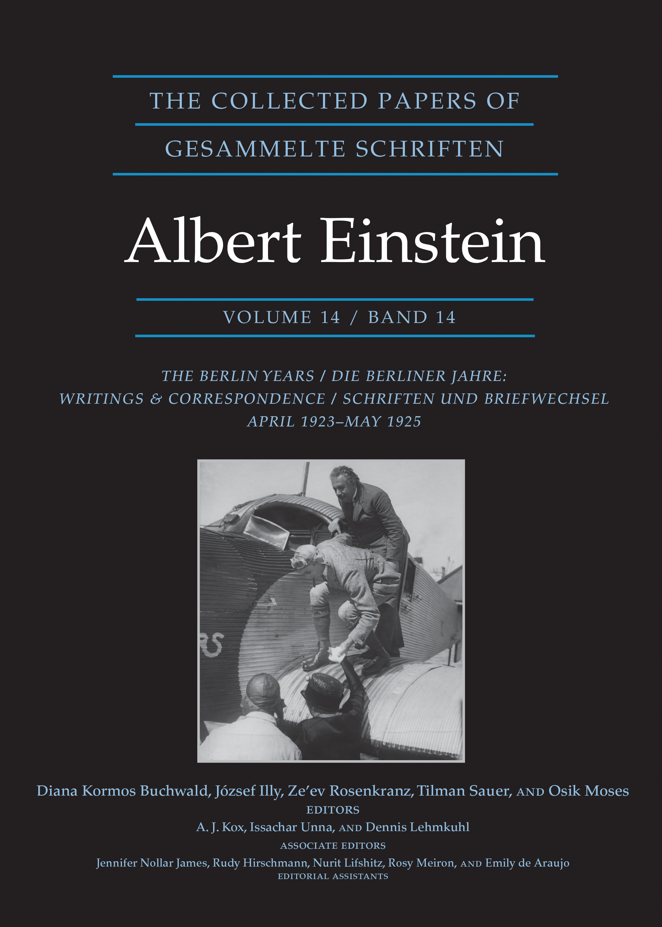 bookjacket: The Collected Papers of Albert Einstein, Volume 14