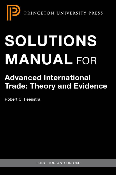 textbook solutions and instructor s manuals princeton university press rh press princeton edu Econometrics Problems Econometrics Problems